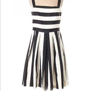 Ann taylor loft black and white striped dress